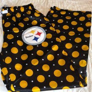 NFL Team Apparel Pgh Steelers Silky Pajama Pants